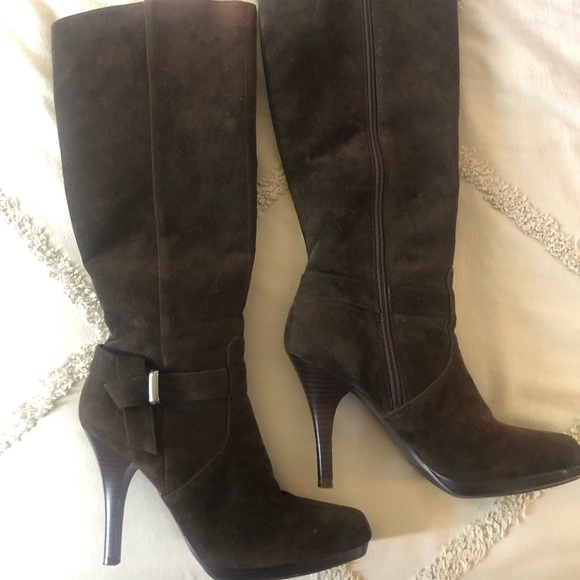 Worthington Brown Suede Knee High Boots